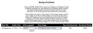 Manage ePub
